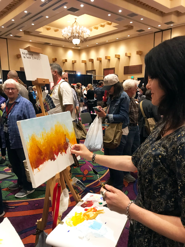 PACE Plein Air Convention 2018 Santa Fe, NM. RGM/MABEF Live Demonstration