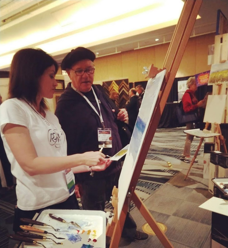 Demonstrating at the PACE Plein Air show at the San Francisco Hilton 2019
