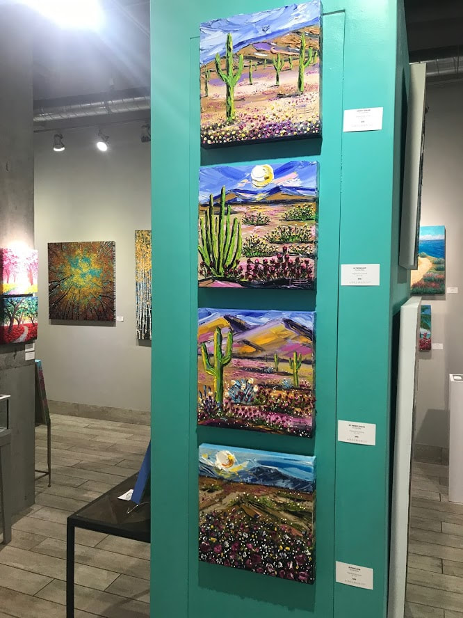 My paintings hanging at the beautiful Adelman Fine Art in San Diego