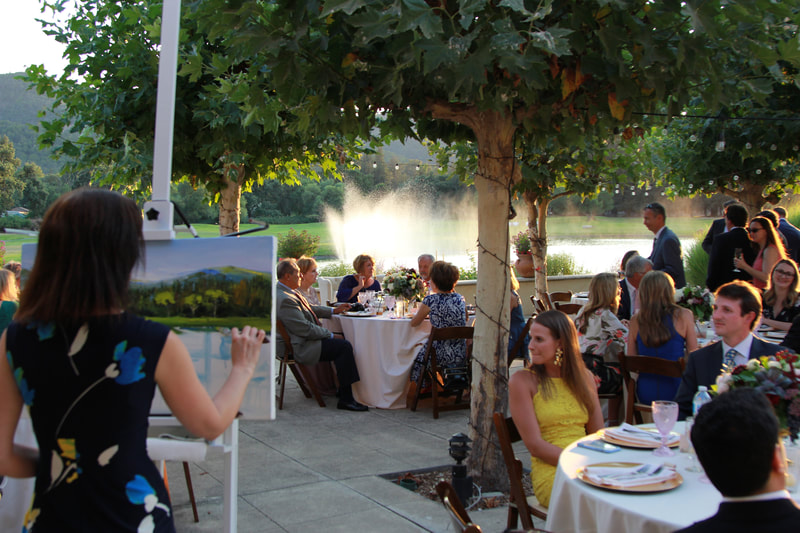 Vintner's Club, Yountville, Napa Valley, CA. 2018. Private party live painting