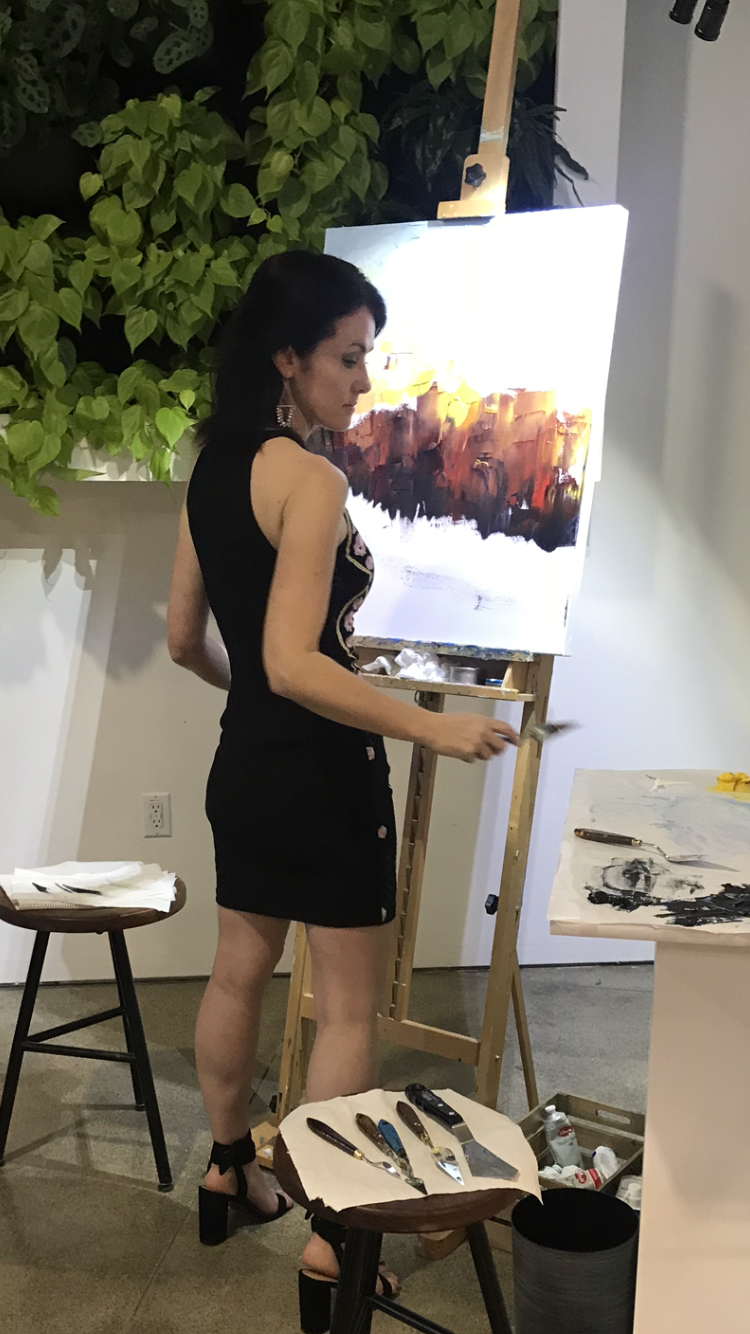 China SF Foundation Annual Gala 2018, San Francisco, CA. Live painting demonstration and auction.