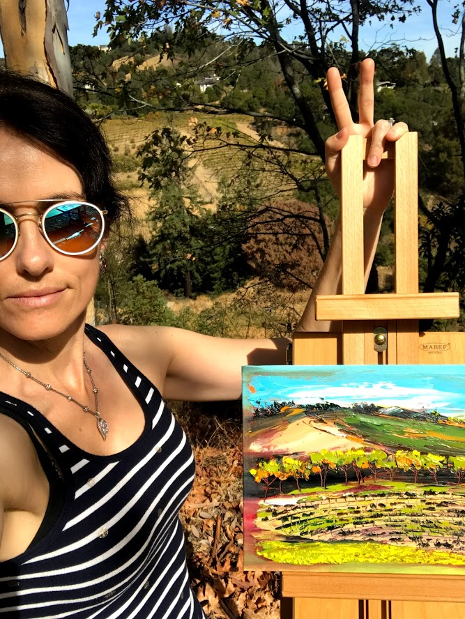 I like to paint En Plein Air around the San Francisco Bay Area